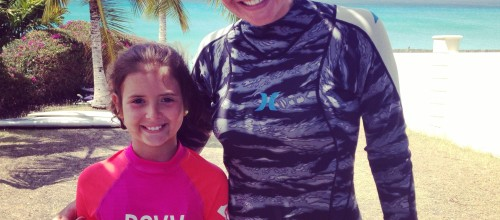 Veronica's First Ever Surf In Barbados